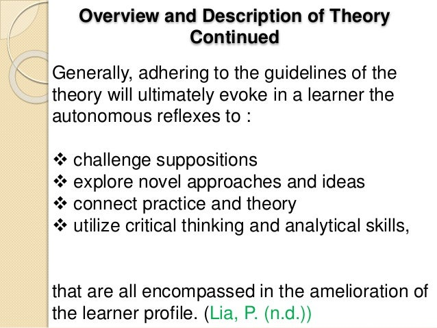 reflection on theory and knowledge in nursing Healthcare practice and knowledge are constantly changing and developing   areas of interest for me include learning theory, health promotion, sexual health.