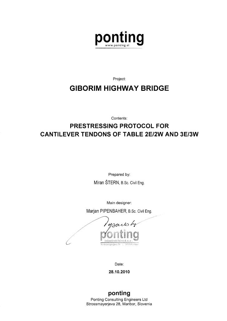 Giborim prestressing protocol