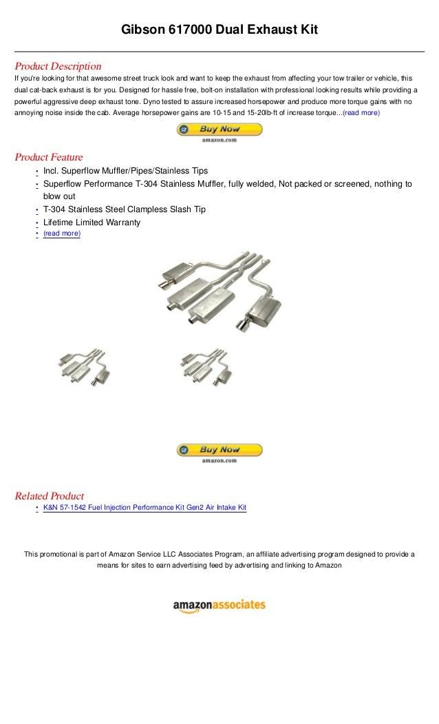 Gibson 617000 dual exhaust kit
