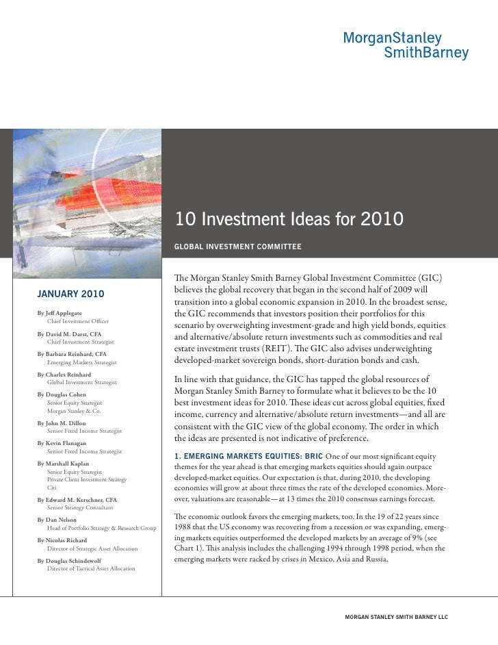 10 Investment Ideas for 2010                                                  gloBal invEStmEnt CommittEE                 ...