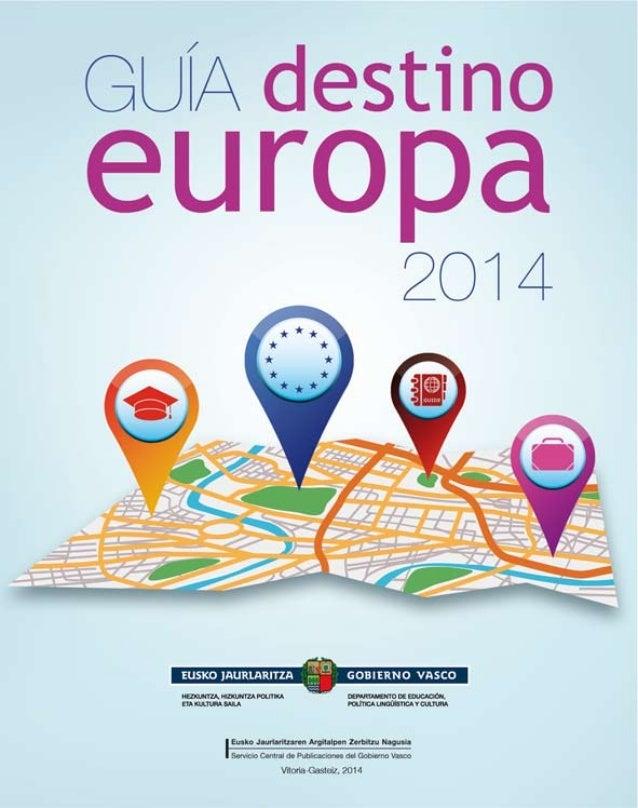 Guía destino Europa 2014