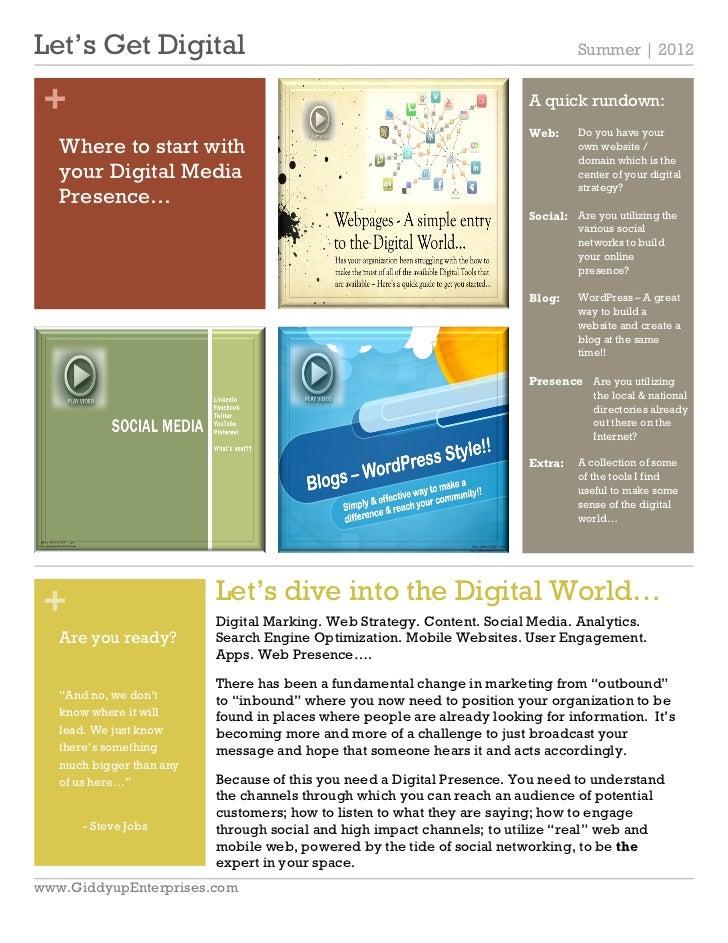 Let's Get Digital                                                                 Summer | 2012 +                         ...