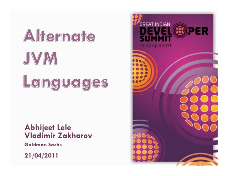 Alternate JVM Languages