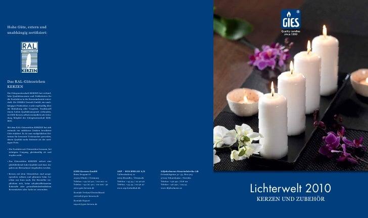 Lichterwelt 2010  KERZEN UND ZUBEHÖR