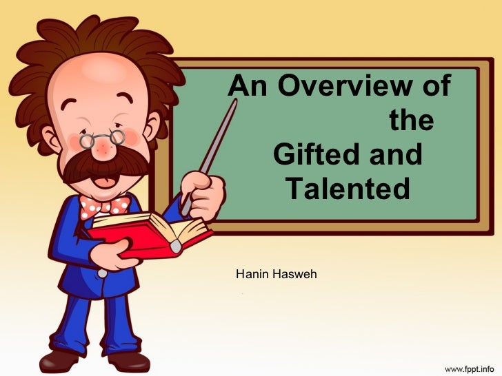 Gifted and talented advocacy project