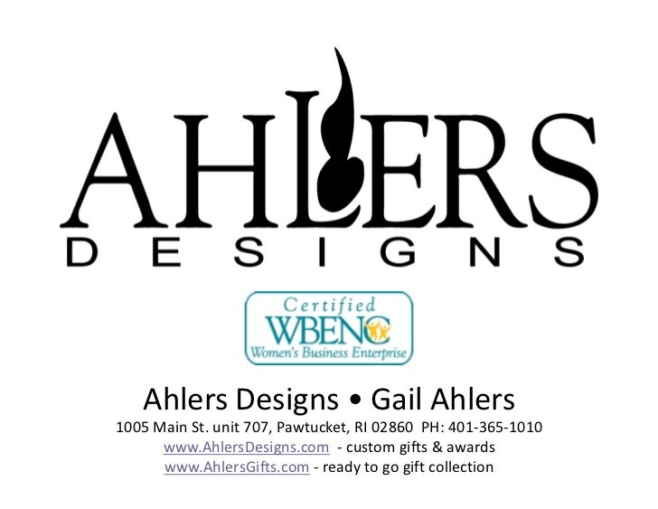 Ahlers Designs- Some past projects