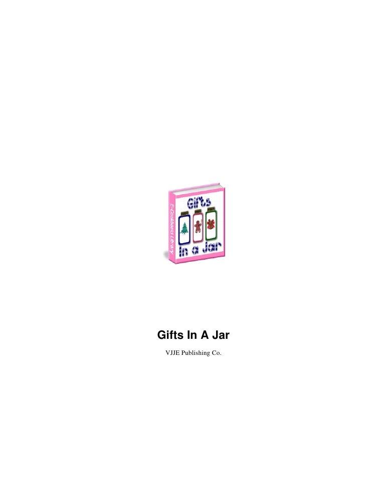Gifts In A Jar VJJE Publishing Co.