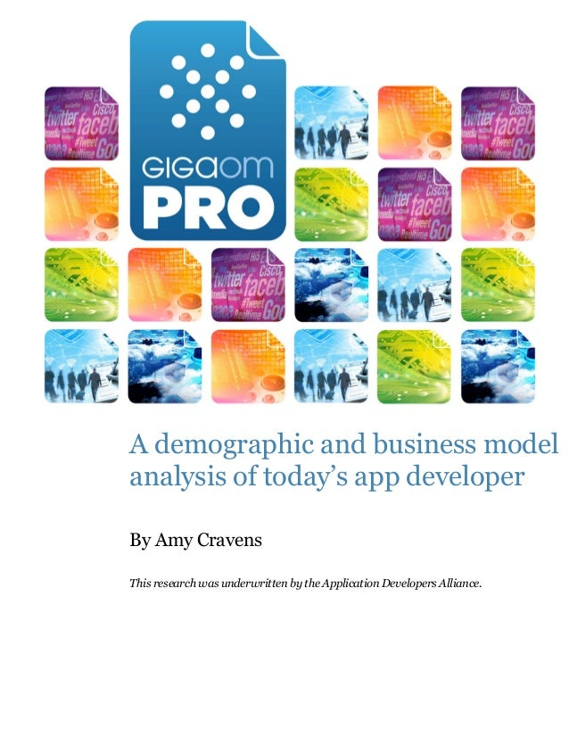 A demographic and business modelanalysis of today's app developerBy Amy CravensThis research was underwritten by the Appli...