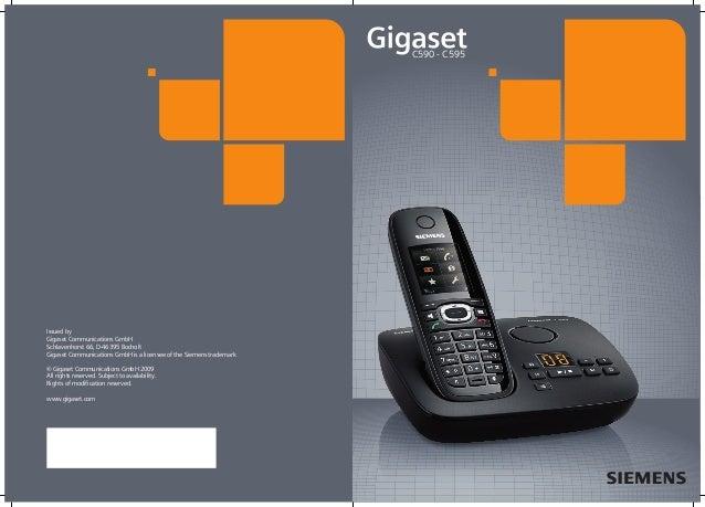 Gigaset c590 c595 user guide