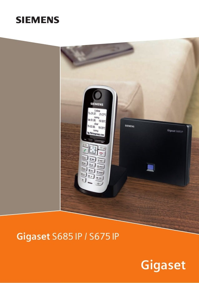 Gigaset s675 ip s685ip telephone user guide