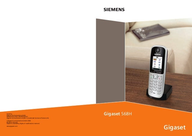 Gigaset s68 handset telephone user guide