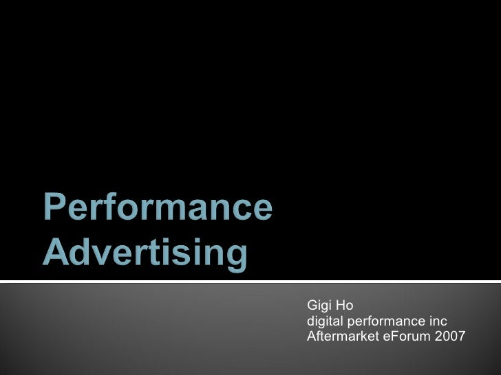 What is Performance Advertising?