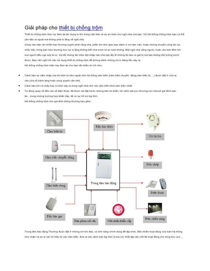 Giải pháp cho thiết bị chống trộm