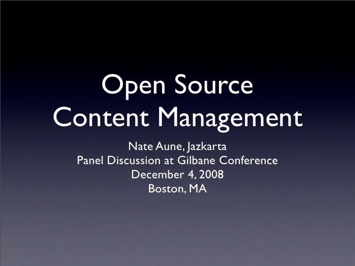 Open Source Content Management