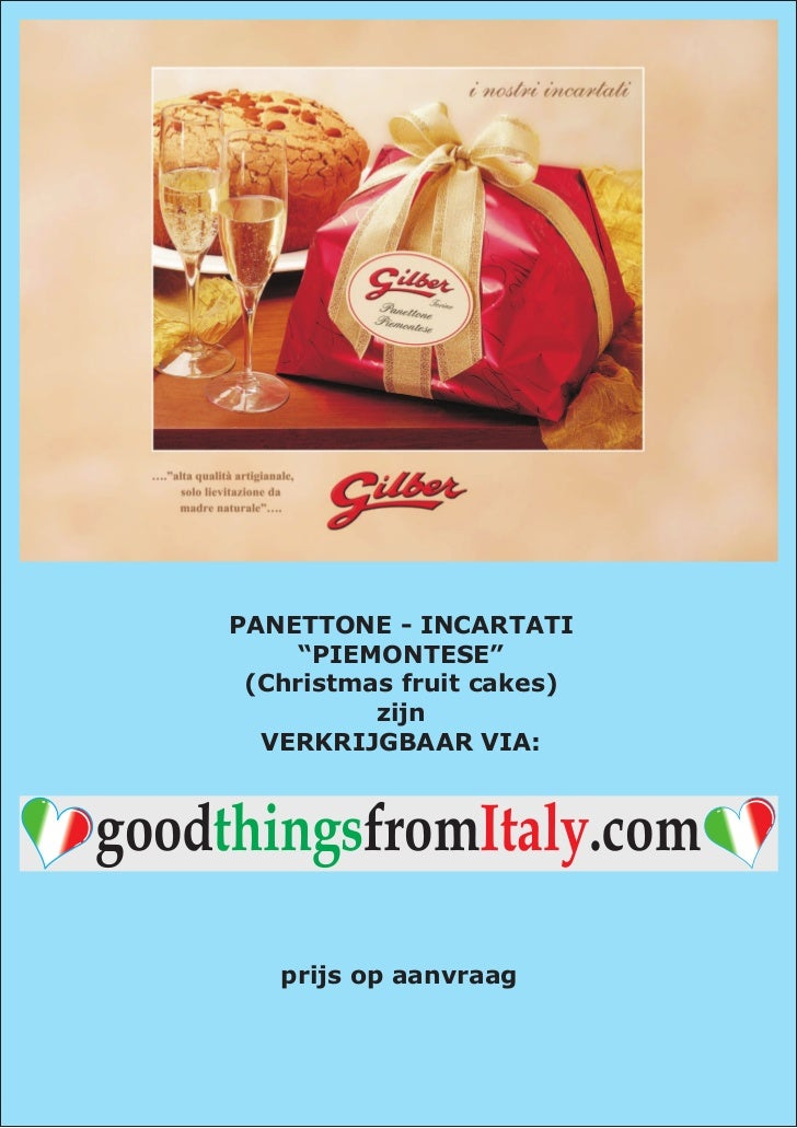 Gilber - Panettoni Incartati - Good Things From Italy
