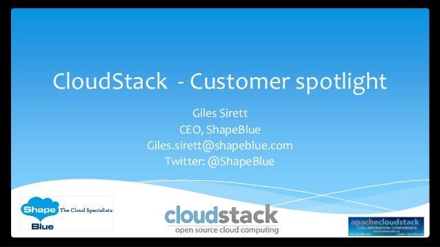 Cloudstack collaboration - customer focus