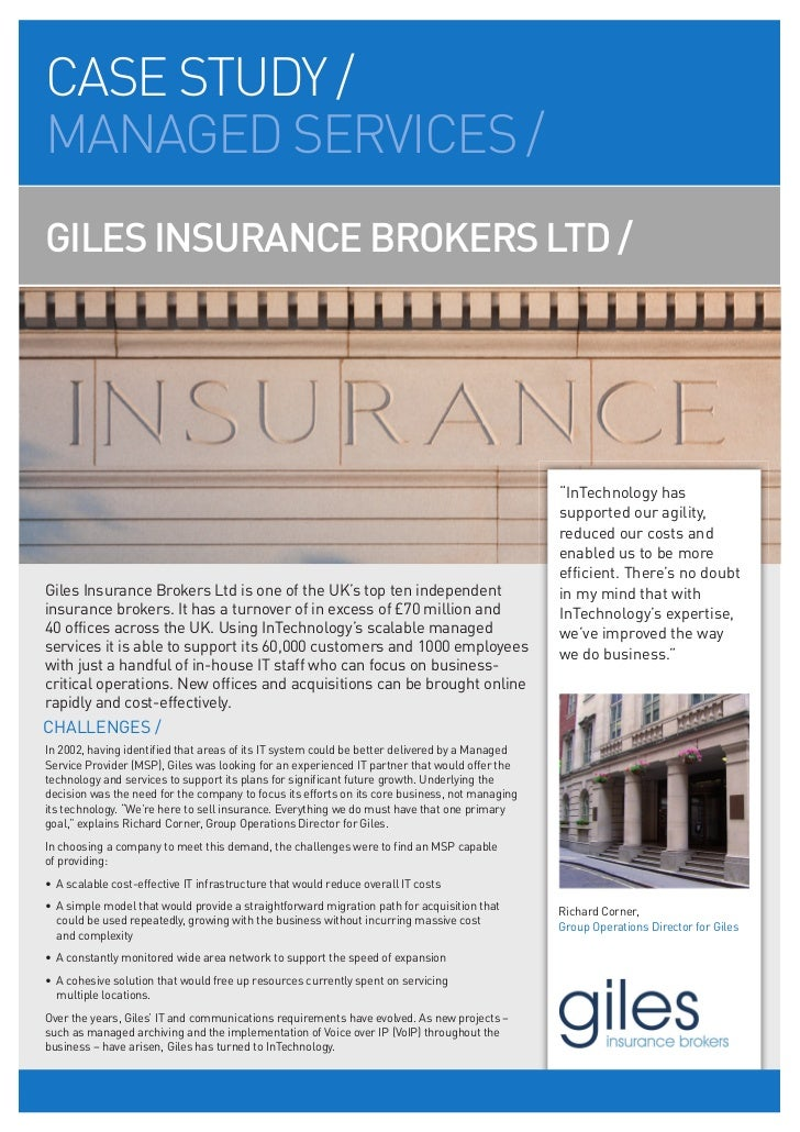CASE STUDY /MANAGED SERVICES /GILES INSURANCE BROKERS LTD /                                                               ...