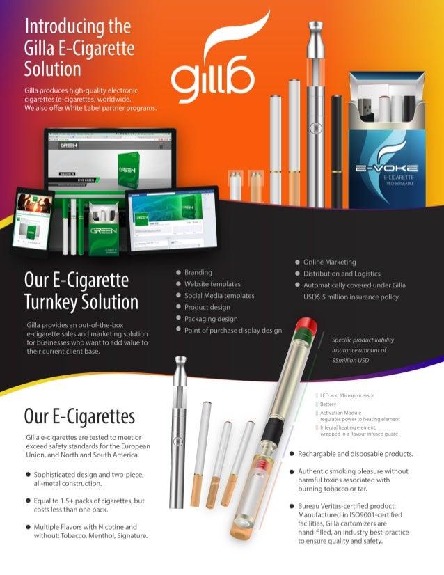 Gilla Turnkey E-Cigarette Solutions