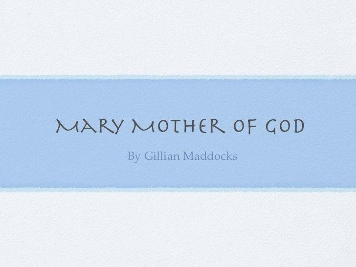 Gillian Mary keynote