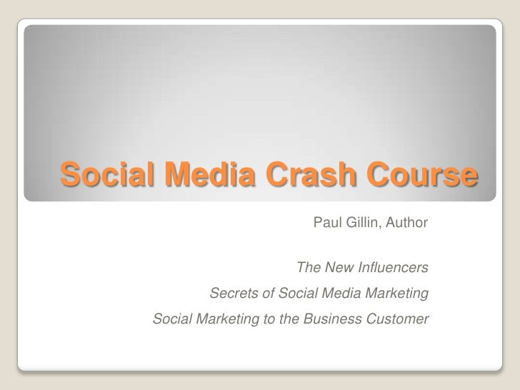 Social Media Crash Course