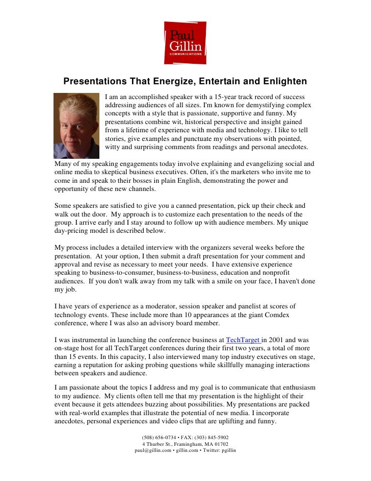 Presentations That Energize, Entertain and Enlighten                  I am an accomplished speaker with a 15-year track re...