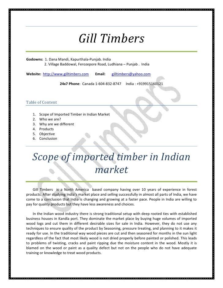 Gill Timbers Godowns: 1. Dana Mandi, Kapurthala-Punjab. India          2. Village Baddowal, Ferozepore Road, Ludhiana – Pu...