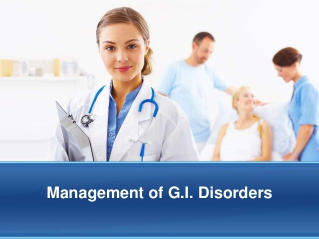 Management of G.I. Disorders