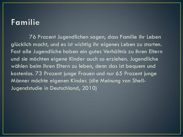 76 Prozent Jugendlichen sagen, dass Familie ihr Leben glücklich macht, und es ist wichtig ihr eigenes Leben zu starten. Fa...