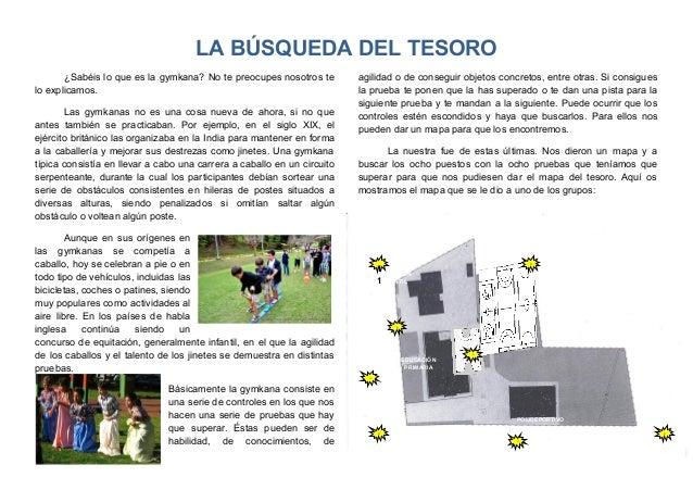 EDUCACIÓN INFANTIL EDUCACIÓN PRIMARIA POLIDEPORTIVO 1 1 1 1 1 1 11 1 LA BÚSQUEDA DEL TESORO ¿Sabéis lo que es la gymkana? ...