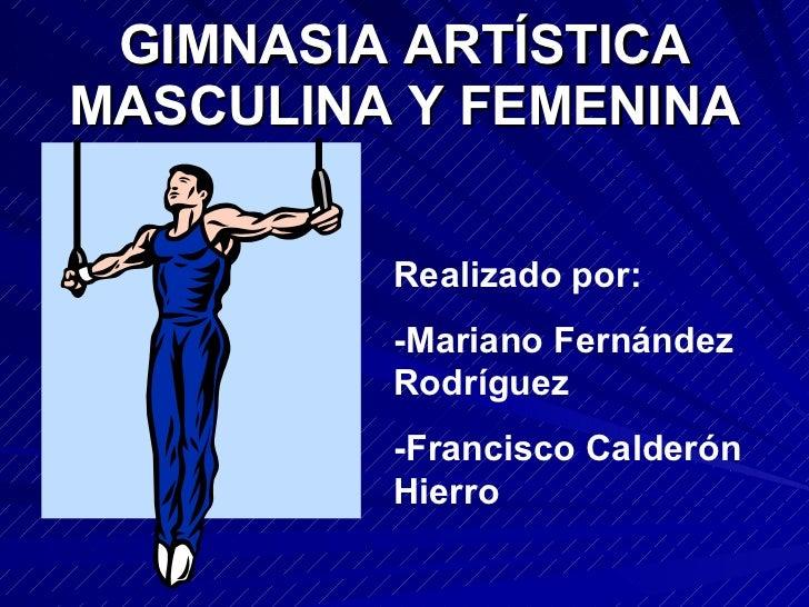 Gimnasia ArtíStica Masculina Y Femenina