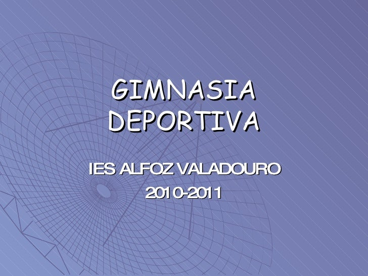 GIMNASIA DEPORTIVA IES ALFOZ VALADOURO 2010-2011