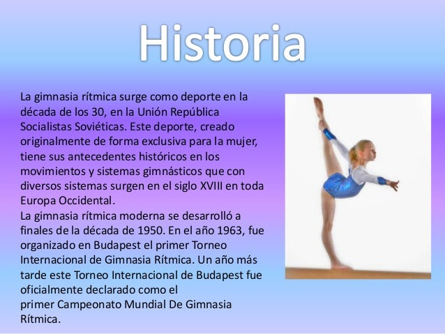 historia de la gimnasia ritmica