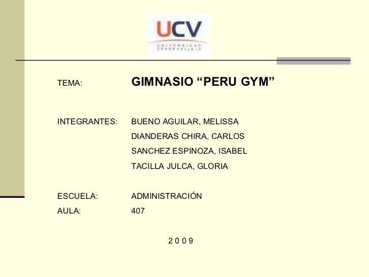 Gimnasios Peru