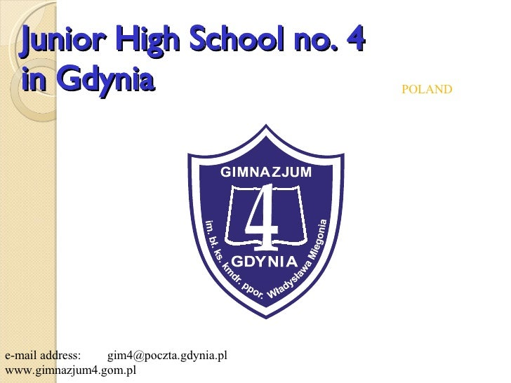 Junior High#4 Gdynia, Poland