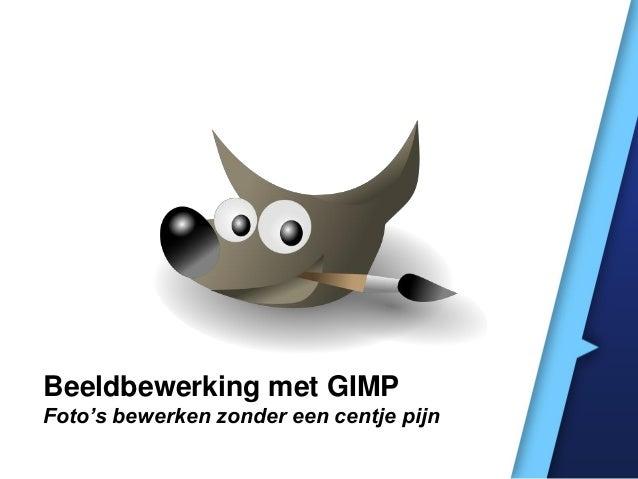 Beeldbewerking met GIMP Foto's bewerken zonder een centje pijn