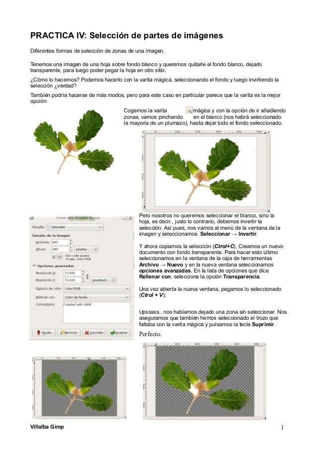 PRACTICA IV: Selección de partes de imágenes Diferentes formas de selección de zonas de una imagen. Tenemos una imagen de ...