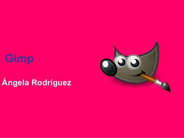 Gimp Ángela Rodríguez