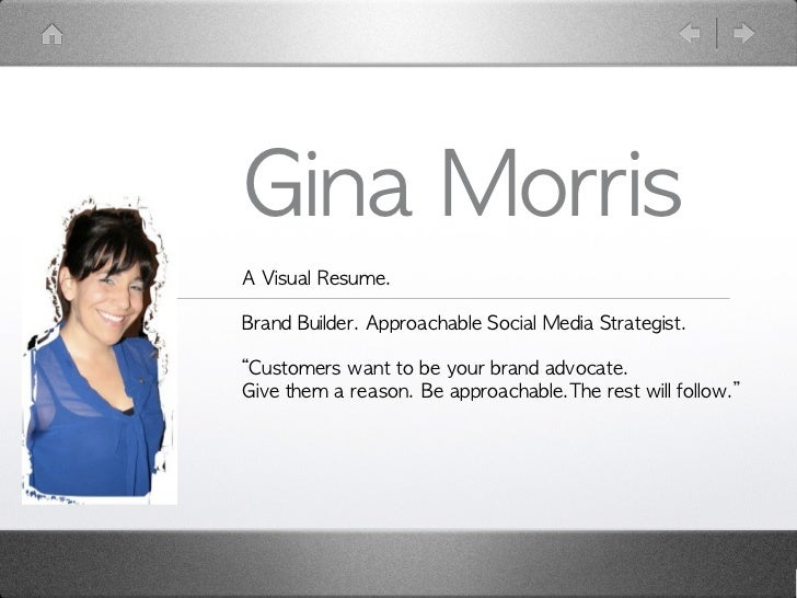 Gina Morris Visual Resume
