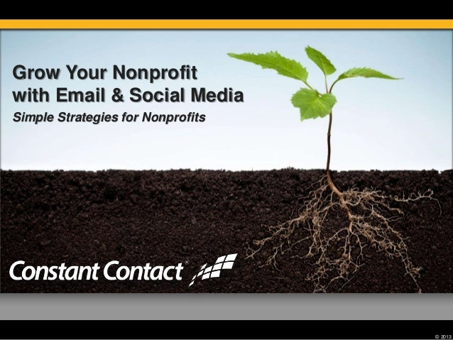© 2013 Grow Your Nonprofit with Email & Social Media Simple Strategies for Nonprofits