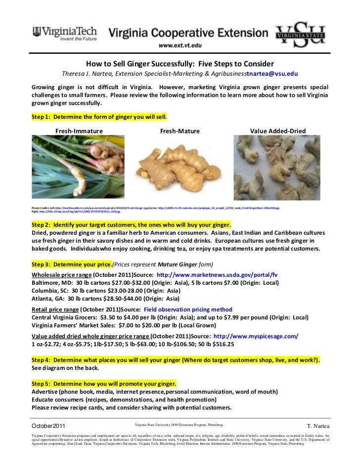 Ginger marketing bulletin