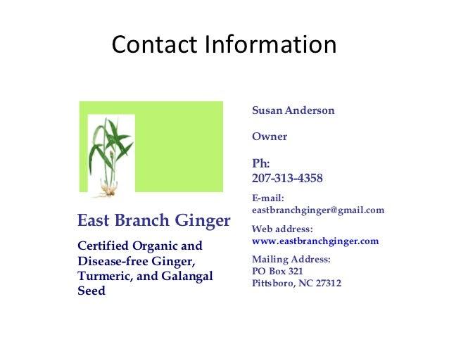 Ginger presentation cfsa 10.2012