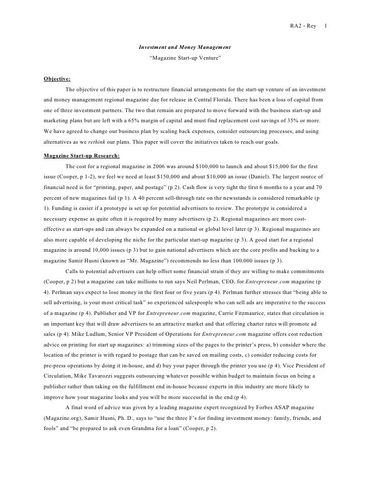 Example of an essay proposal