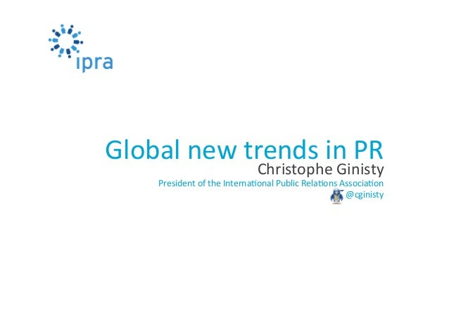 Global new trends in Public Relations