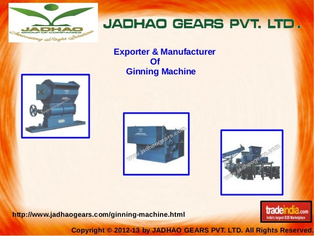 Ginning Machine Exporter, Manufacturer, Amravati