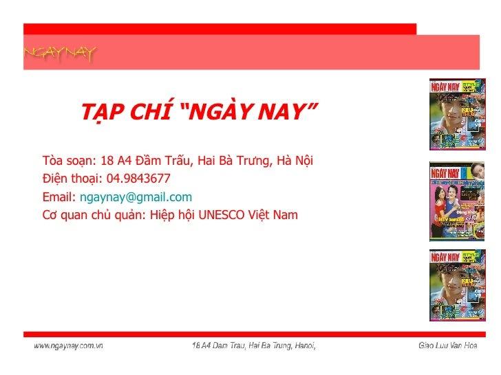 Gioi Thieu Tap Chi Ngay Nay1