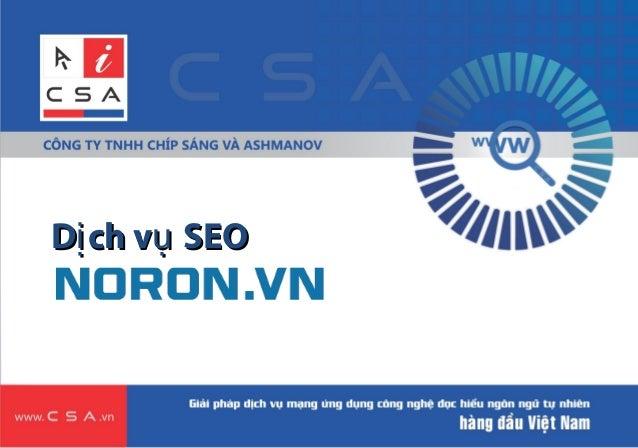 Giới thiệu về Dịch vụ SEO tự động Noron