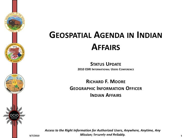Geospatial Agenda in Indian Affairs