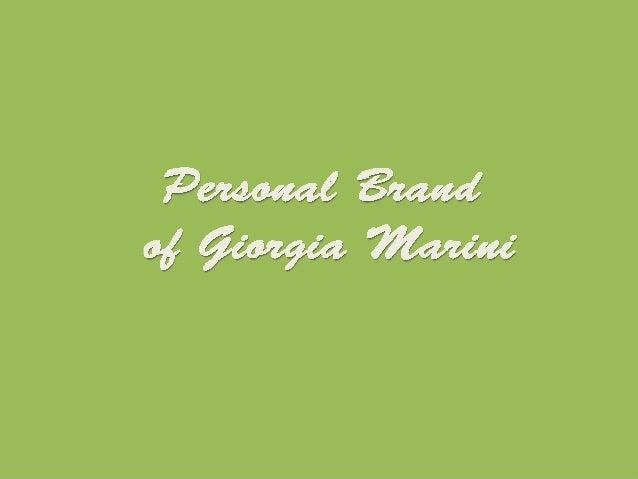 Giorgia Marini progetto di personal brand