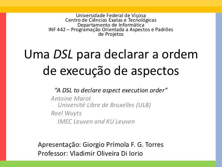 Universidade Federal de Viçosa            Centro de Ciências Exatas e Tecnológicas                  Departamento de Inform...