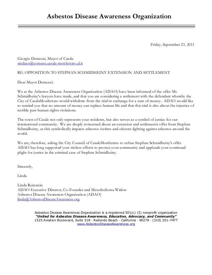 Asbestos Disease Awareness Organization                                                                                   ...